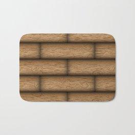 Realistic wood texture Bath Mat
