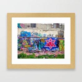 Tel Aviv Street Art Jewish Star Framed Art Print
