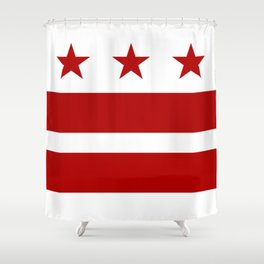 Washington DC District Of Columbia Flag Shower Curtain