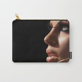 Beauty Woman Face, Portrait Of Sexy Girl Perfect Make-up, Closeup Female Model With Soft Smooth Skin Carry-All Pouch