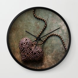 Heart shaped pendant Wall Clock