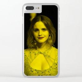 Emma Watson - Celebrity (Florescent Color Technique) Clear iPhone Case