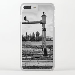 Water pump for steam locomotives Clear iPhone Case
