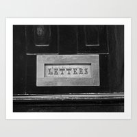 letters Art Prints featuring Letters by Shy Photog