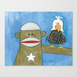 Sock Monkey 301 Canvas Print