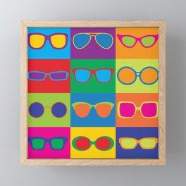 Pop Art Eyeglasses Framed Mini Art Print