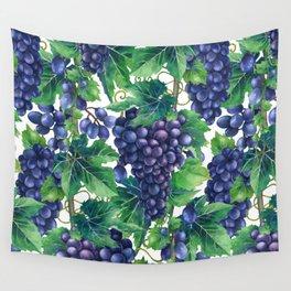 Watrercolor grapes Wall Tapestry
