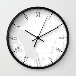 Classical Music Background Wall Clock