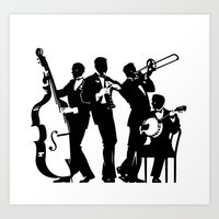 band Art Prints featuring Band by David Chestnutt