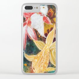 Wild Goldfish Dreams Clear iPhone Case
