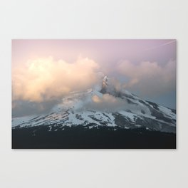 Pink Fog Mountain Morning Canvas Print