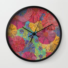 The Parting of the Poppies Wall Clock