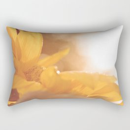 Sun Flare Sunflower Rectangular Pillow