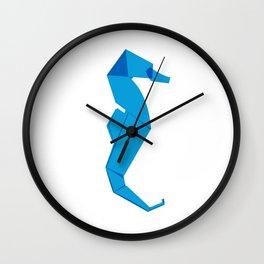 Origami Seahorse Wall Clock