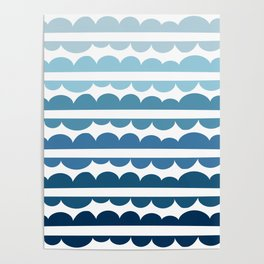 Mordidas Gradient Blue Poster