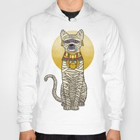 returns Hoodies featuring Ancient Cat Returns by Fathi