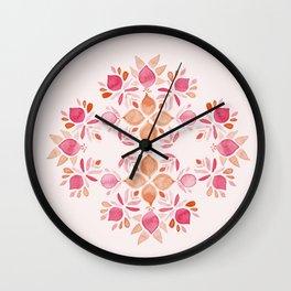 lemon flowers watercolor azulejo Wall Clock