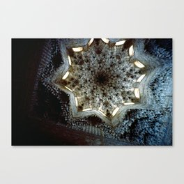Looking Up Hall of the Abencerrajes, Alhambra Canvas Print