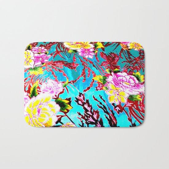 Coral Roses Bath Mat