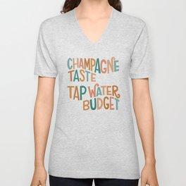 Champagne Taste Unisex V-Neck