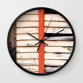 Worn Down Building Exterior Wall Clock