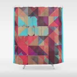 Risograph 1/Diamond Shower Curtain