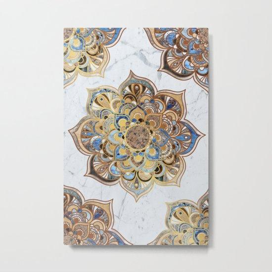 Mandala VII - Marble Metal Print