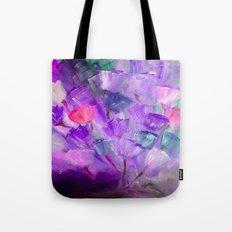 Emerging Flowers Purple Tote Bag
