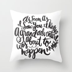 grand adventure Throw Pillow