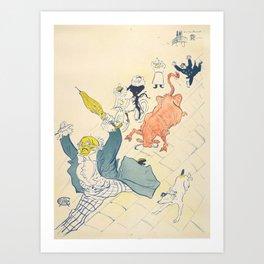 """Henri de Toulouse-Lautrec """"La Vache Enragée (The Mad Cow)"""" Art Print"""