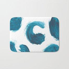 Comma, Abstract, Blue Duck Bath Mat