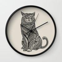 british Wall Clocks featuring Polynesian British Shorthair cat by Huebucket
