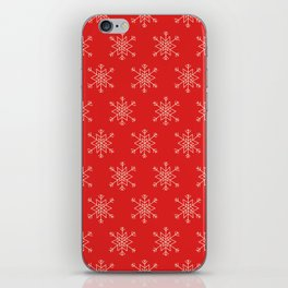 Seamless pattern with snowflakes iPhone Skin