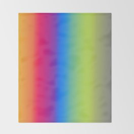 Ombre Bright Colors 1 Throw Blanket