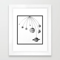 Solar System Design by Colleen Trillow Framed Art Print