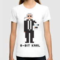 karl lagerfeld T-shirts featuring 8 Bit Karl by 8 Bit Icons