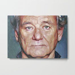 Bill Murray - Painting Metal Print