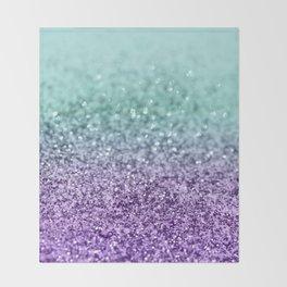 Mermaid Girls Glitter #8 #shiny #decor #art #society6 Throw Blanket
