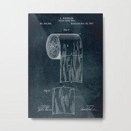 1891 - Toilet paper roll patent art Metal Print