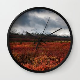 The Red Field Wall Clock