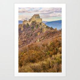 San Michele Sacra Abbey at Pichiriano Mountain Art Print