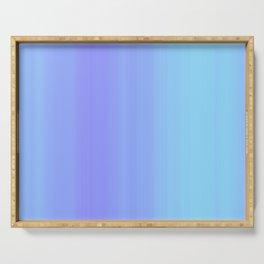 Blue & Violet Pastel Stripes | Cute ombre gradient pattern Serving Tray