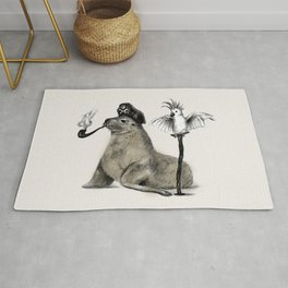 Pirate // seal parrot Rug