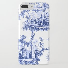 Blue Chinoiserie Toile iPhone Case