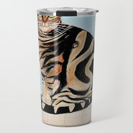 Cat sitting on window sill Travel Mug