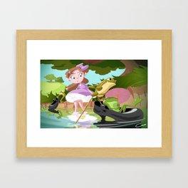 Break at the Creek Framed Art Print