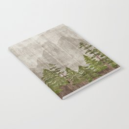 Mountain Range Woodland Forest Notebook