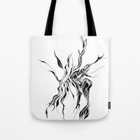 hydra Tote Bags featuring Hydra (detail) by Cloudery