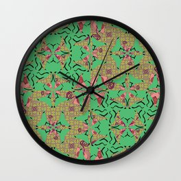 Wavy Ribbon Texture Detached Bulbs Pinwheels Wall Clock