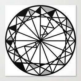 Diamond - round cut geometric design Canvas Print